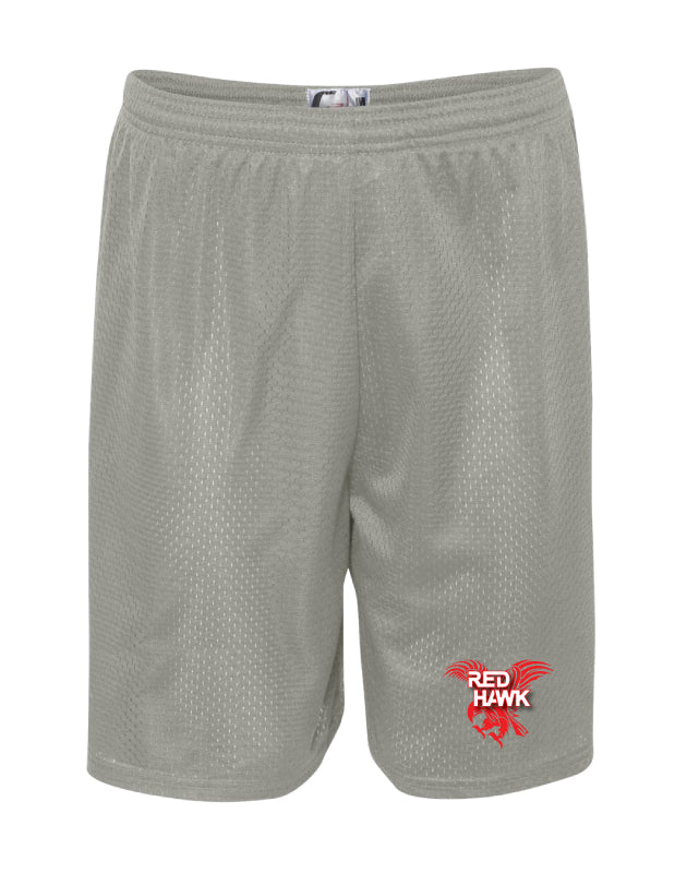 RedHawk Wrestling Club Tech Shorts - Black/Silver