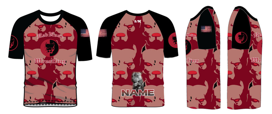 Red Nose Sublimated Fight Shirt - Red - 5KounT2018