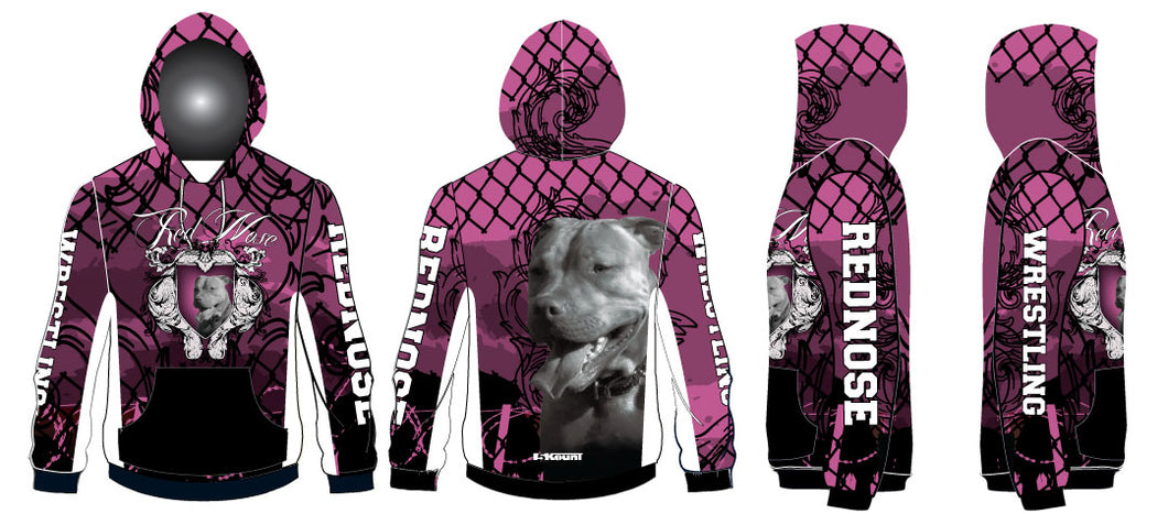 Red Nose Sublimated Hoodie - Pink - 5KounT2018