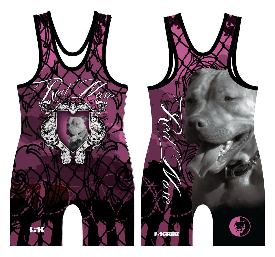 Red Nose Sublimated Singlet Pink