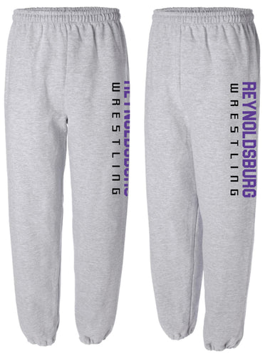 Reynoldsburg Wrestling Cotton Sweatpants - Heather Grey