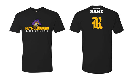 Reynoldsburg Wrestling Cotton Crew Tee - Black