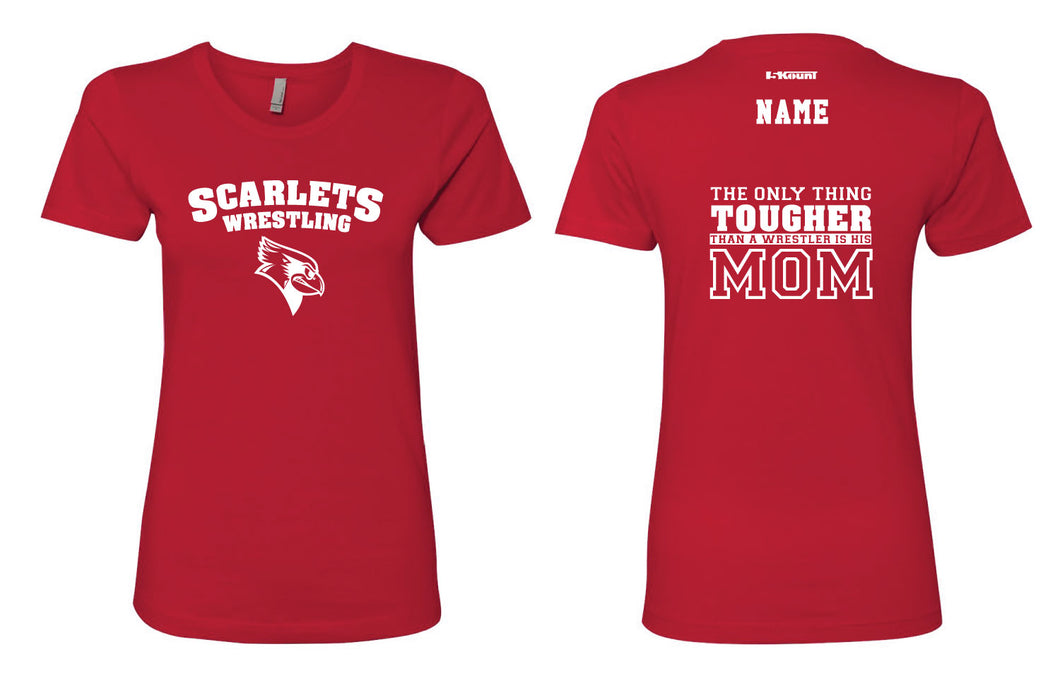 Scarlets Wrestling Cotton Crew Tee Mom 1 Red - 5KounT2018