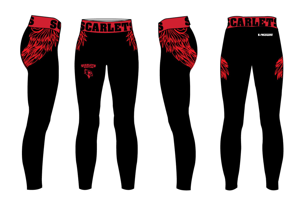 Scarlets Wrestling Sublimated Ladies Legging