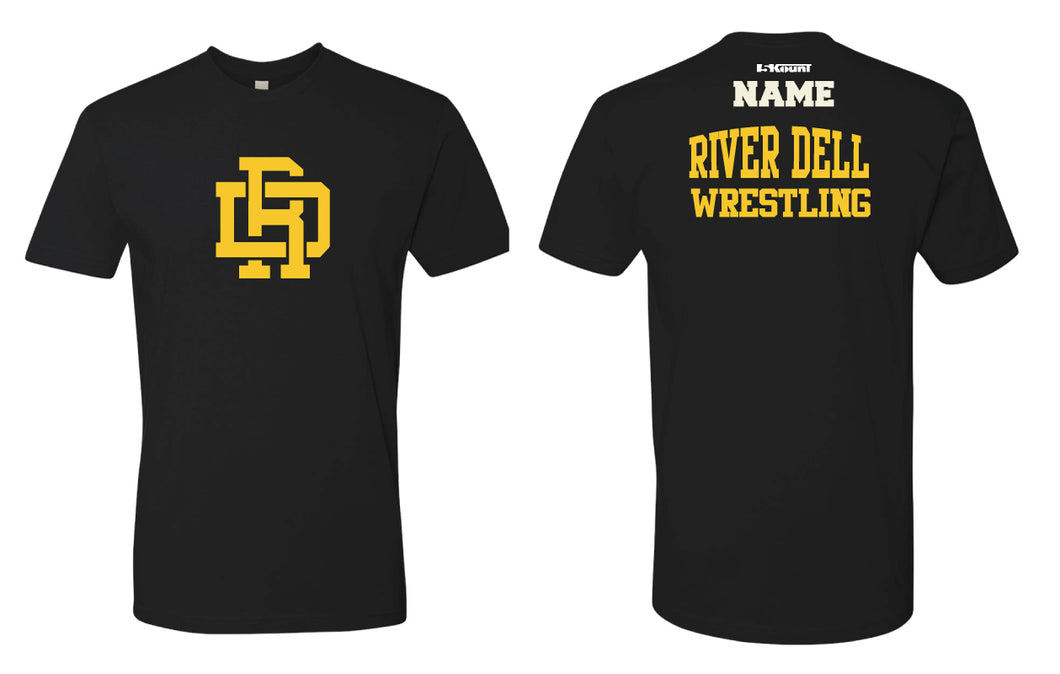 River Dell Wrestling Cotton Crew Tee - Black