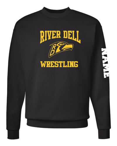 River Dell Wrestling Crewneck Sweatshirt - Black