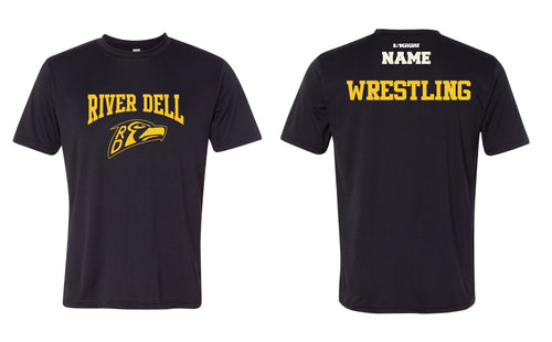 River Dell Wrestling DryFit Performance Tee - Black