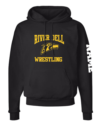 River Dell Wrestling Cotton Hoodie - Black