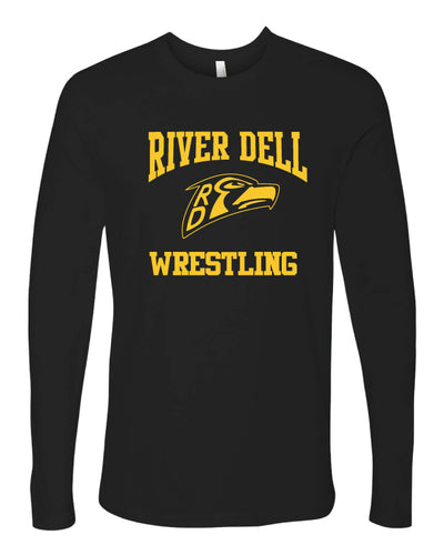 River Dell Wrestling Long Sleeve Cotton Crew - Black
