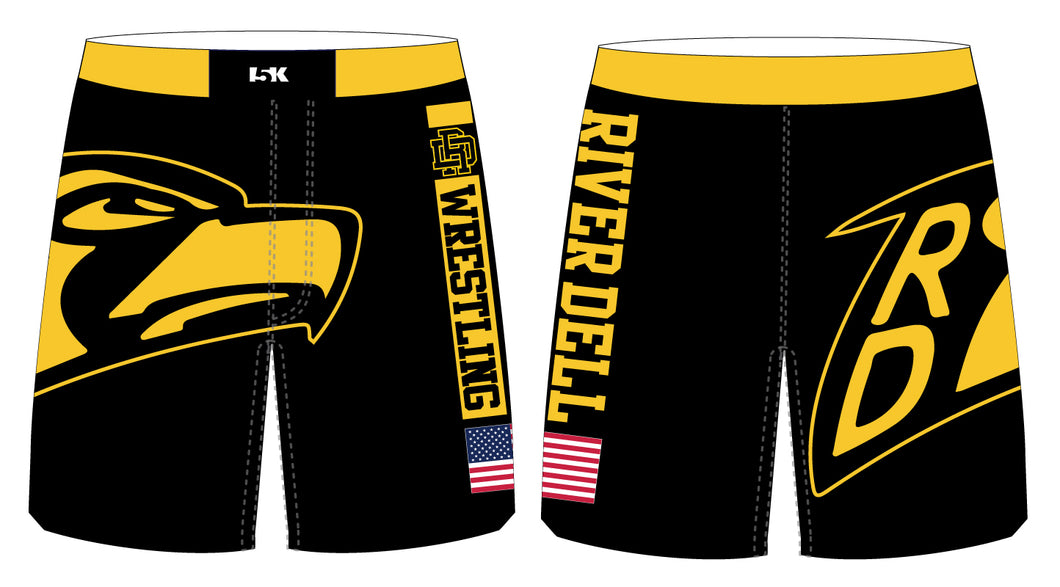 River Dell Wrestling Sublimated Fight Shorts - 5KounT