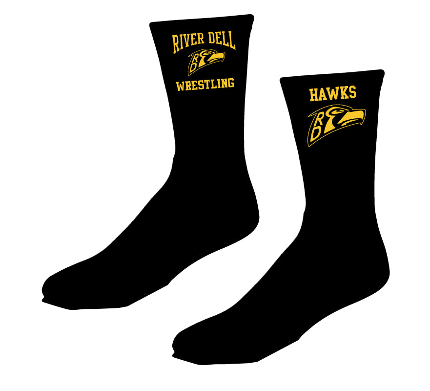 River Dell Wrestling Sublimated Socks - 5KounT2018