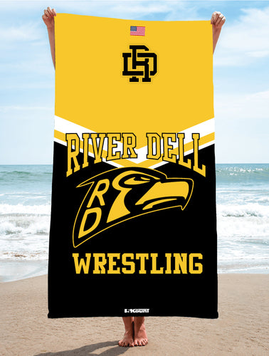 River Dell Wrestling Sublimated Beach Towel