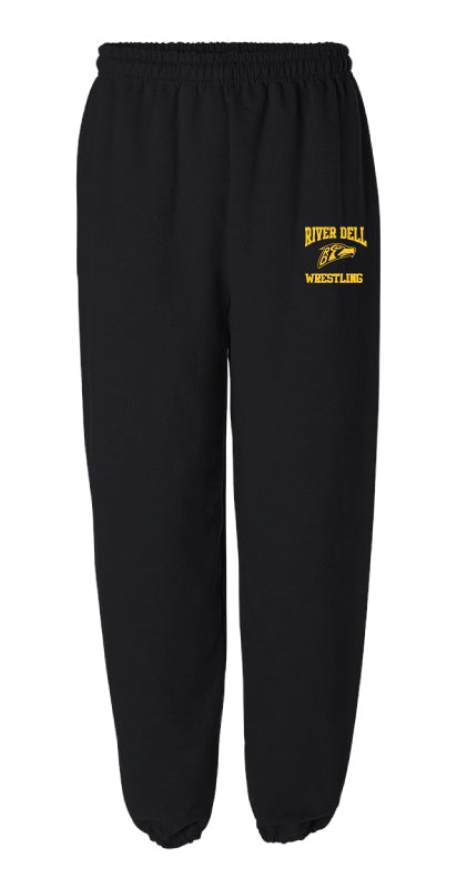 River Dell Wrestling Cotton Sweatpants - Black