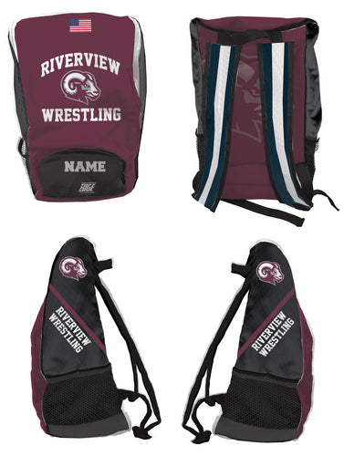 Riverview Wrestling Sublimated Backpack - 5KounT2018