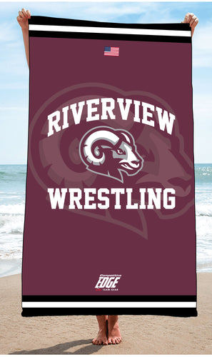 Riverview Wrestling Sublimated Beach Towel - 5KounT2018