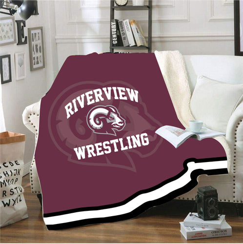 Riverview Wrestling Sublimated Blanket - 5KounT2018
