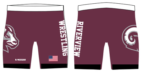 Riverview Wrestling Sublimated Compression Shorts - 5KounT2018