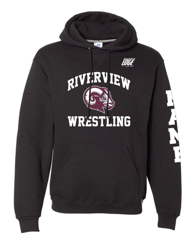 Riverview Wrestling Russell Athletic Cotton Hoodie - Black - 5KounT2018