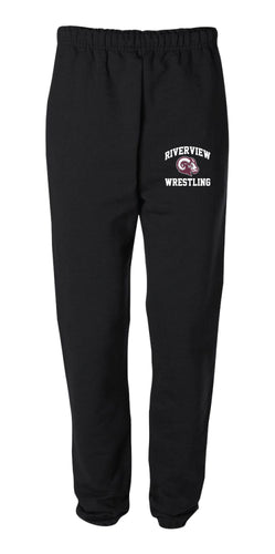 Riverview Wrestling Cotton Sweatpants - Black - 5KounT2018