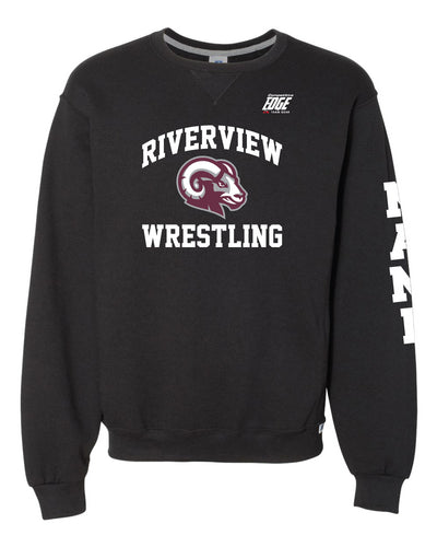 Riverview Wrestling Russell Athletic Cotton Crewneck Sweatshirt - Black - 5KounT2018