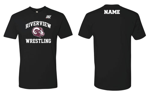 Riverview Wrestling Cotton Crew Tee - Black - 5KounT2018