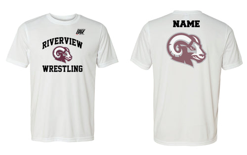 Riverview Wrestling Dryfit Performance Tee - White - 5KounT2018