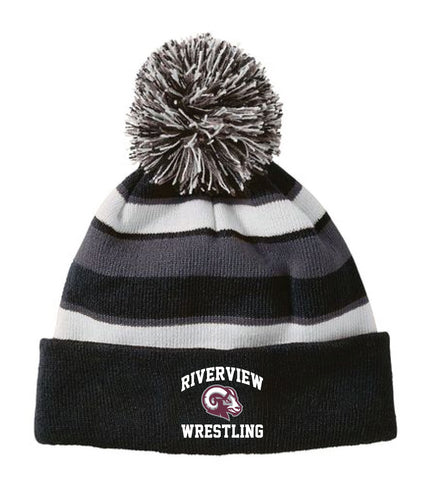 Riverview Wrestling Flexfit Cap - Black - 5KounT2018