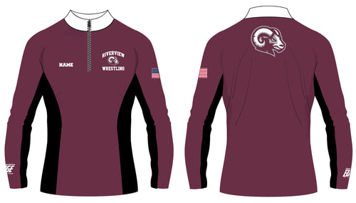 Riverview Wrestling Sublimated Quarter Zip - 5KounT2018