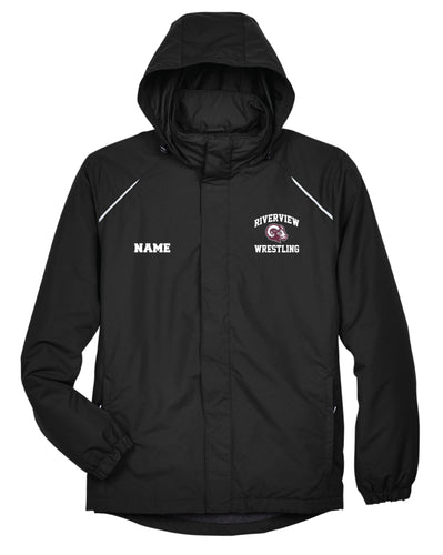 Riverview Wrestling All Season Hooded Men's Jacket - Black - 5KounT2018