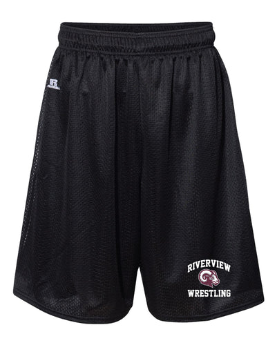Riverview Wrestling Russell Athletic Tech Shorts - Black - 5KounT2018