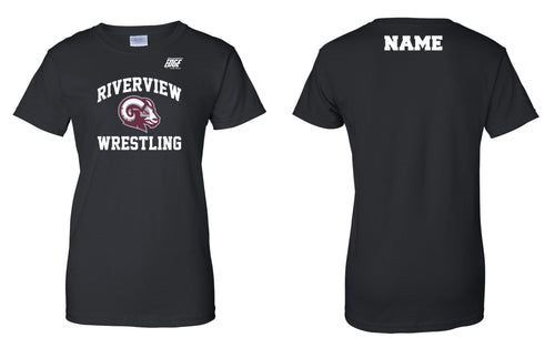 Riverview Wrestling Cotton Women's Crew Tee - Black - 5KounT2018