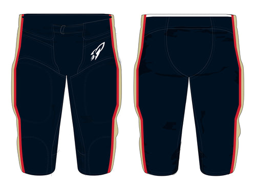 Rocket Elite Football Sublimated Navy Game Pants