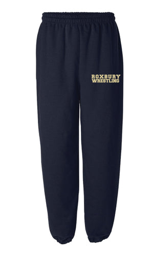 Roxbury Wrestling Cotton Sweatpants - Navy