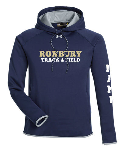 Roxbury Track & Field Under Armour Ladies' Double Threat Armour Fleece Hoodie - Navy - 5KounT2018