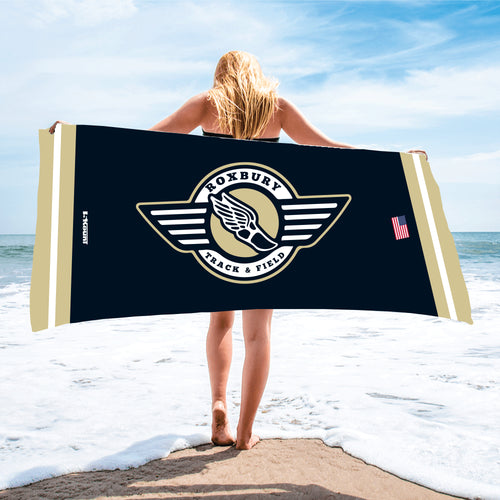 Roxbury Track & Field Sublimated Beach Towel - 5KounT2018