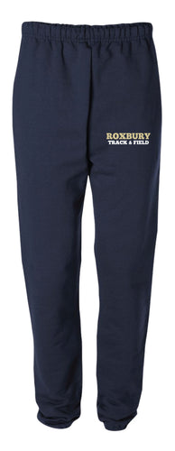 Roxbury Track & Field Cotton Sweatpants - Navy - 5KounT2018