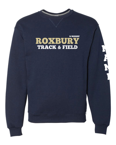 Roxbury Track & Field Russell Athletic Cotton Crewneck Sweatshirt - Navy - 5KounT2018