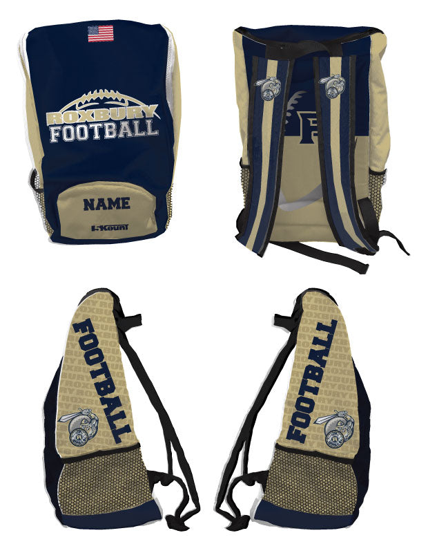 Roxbury Football Sublimated Backpack