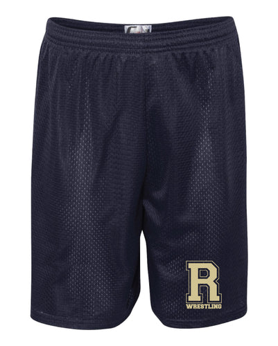 Roxbury Wrestling Tech Shorts - Navy