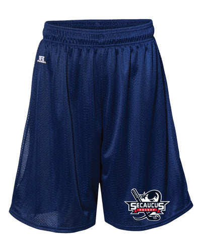 Secaucus Hockey Russell Athletic Tech Shorts - Navy - 5KounT2018
