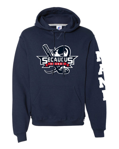 Secaucus Hockey Russell Athletic Cotton Hoodie - Navy - 5KounT2018