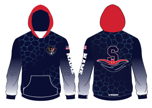 Secaucus Swimming Sublimated Hoodie - 5KounT2018