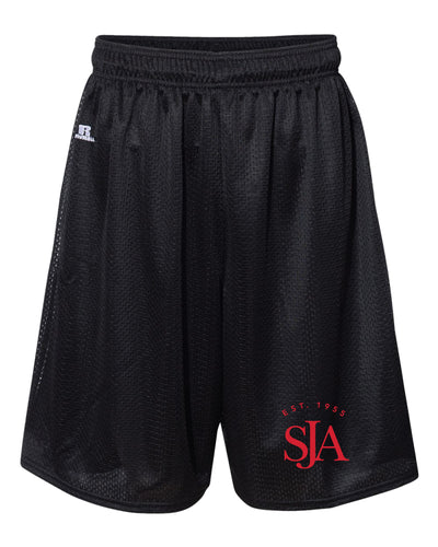 Saint John's Academy Russell Athletic  Tech Shorts - Black