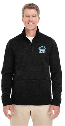 SL!CK Men's Fleece Quarter Zip - Black