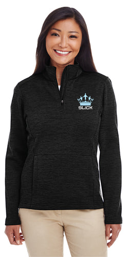 SL!CK Women's Fleece Quarter Zip - Black