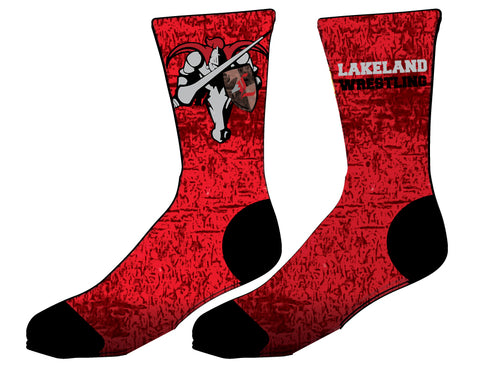 Lakeland Jr. Wrestling Sublimated Socks - 5KounT2018