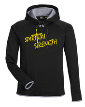 Spiritual Strenght Mindset Under Armour Men's Double Threat Armour  Fleece Hoodie - Black