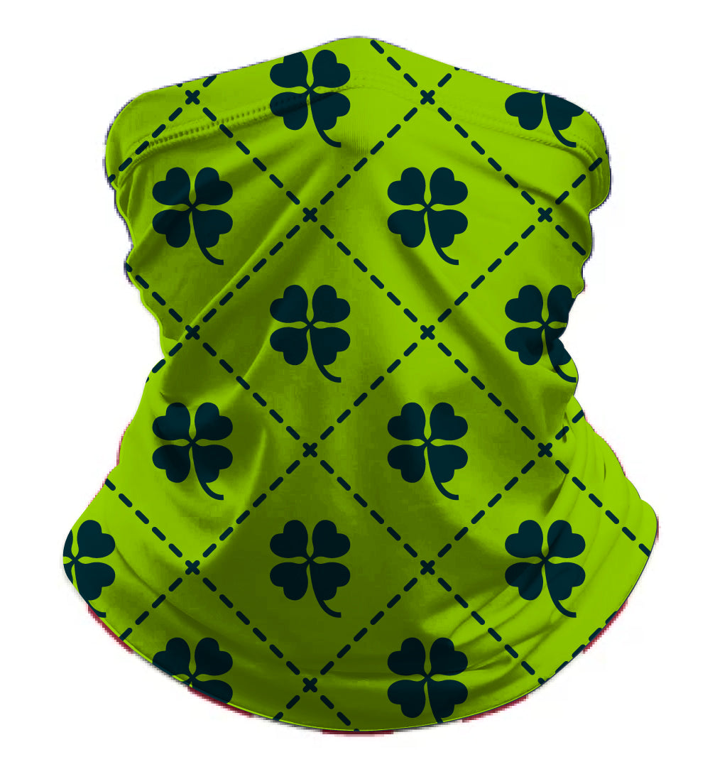 St Patrick's Day Reusable Sublimated Gaiter - Light Green - 5KounT2018