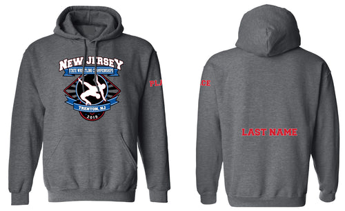 New Jersey State Wrestling Cotton Hoodie - Dark Heather