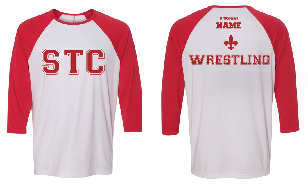 STC Wrestling Baseball Shirt - Red/White